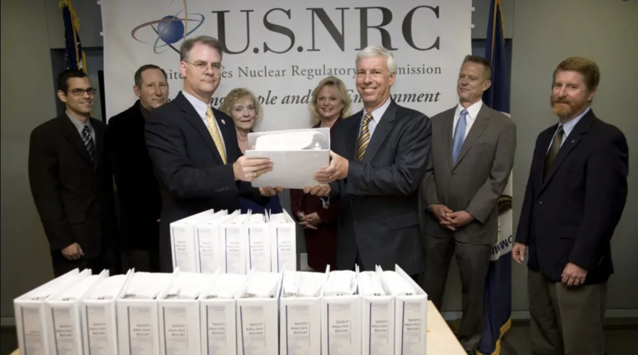 Energy Department representatives presented the Yucca Mountain license application to the NRC on June 3, 2008