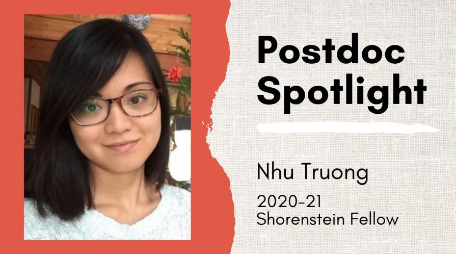 Postdoc Spotlight on Nhu Truong, 2020-21 Shorenstein Fellow