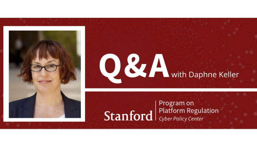 Q&A with Daphne Keller