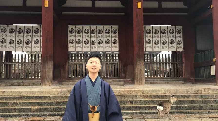Brandon Cho at Todaiji Temple, Nara