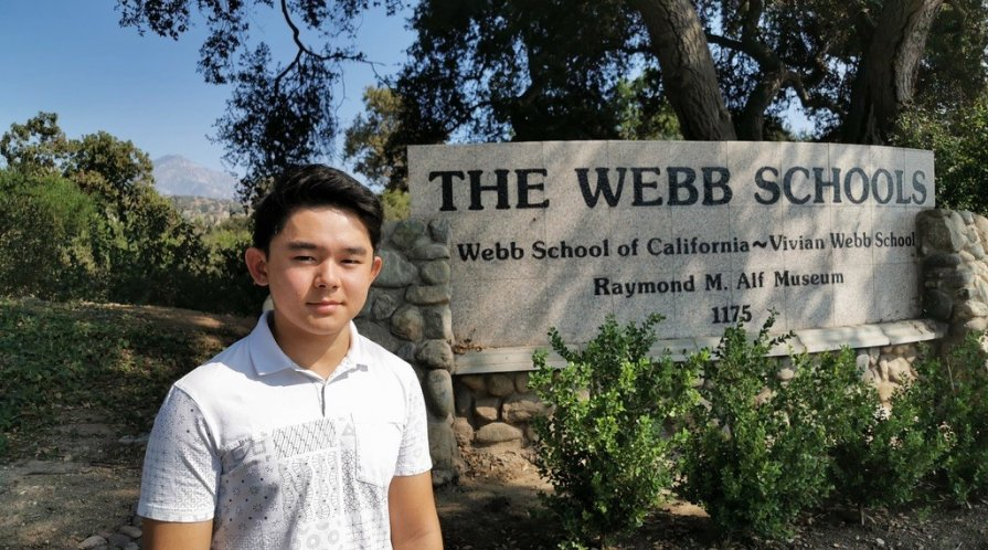 Koki Mashita at Webb School of California; photo courtesy Koki Mashita