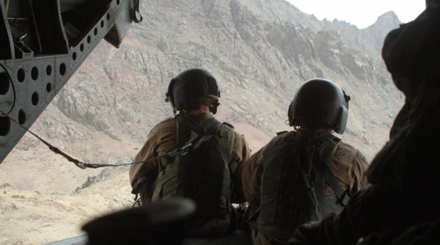 Helicopter crew members in Afghanistan.