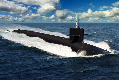 Artist rendition of a nuclear submarine