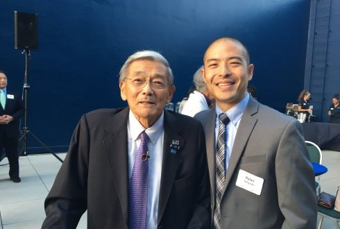 Secretary Norman Mineta and Rylan Sekiguchi