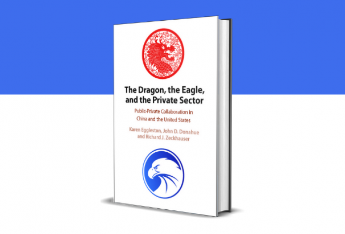 3D mockup of the book 'The Dragon, the Eagle, and the Private Sector'