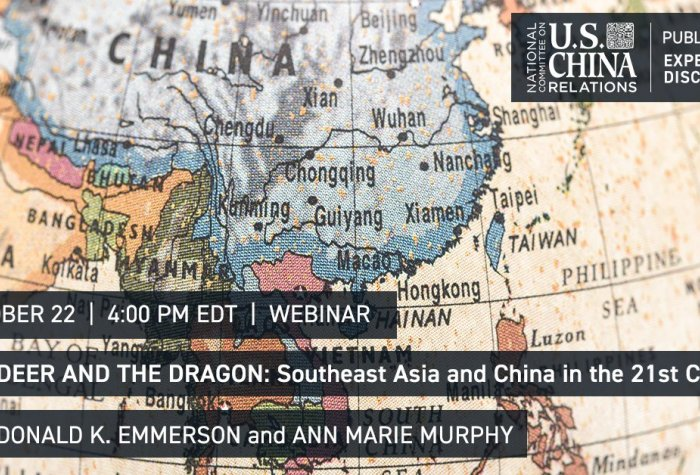A discussion of contemporary Southeast Asian politics with Donald K. Emmerson and Ann Marie Murphy at the National Committee on U.S.-China Relations