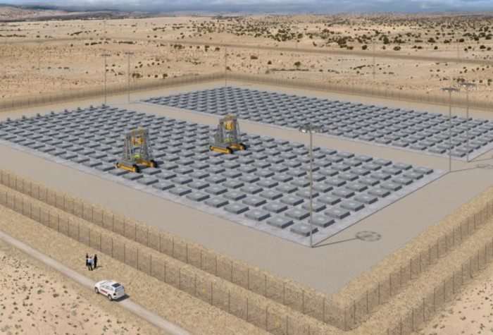 Rendering of the proposed HI-STORE Consolidated Interim Storage Facility in New Mexico.
