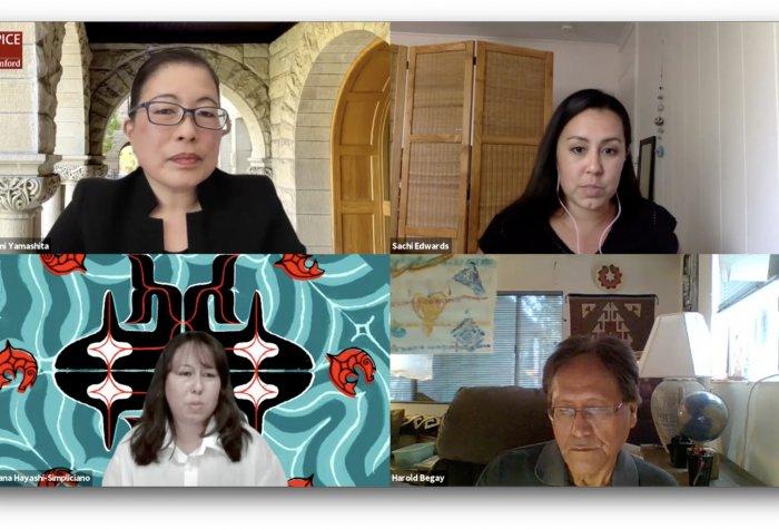 SPICE Instructor Kasumi Yamashita speaks with Native and Indigenous educators