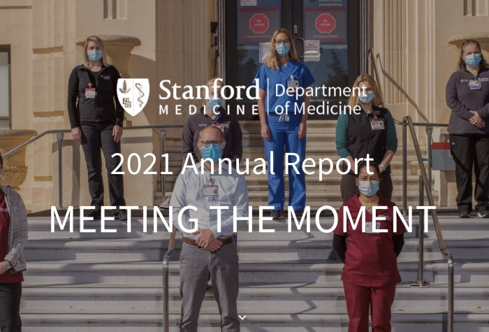 Stanford Department of Medicine Annual Report Cover