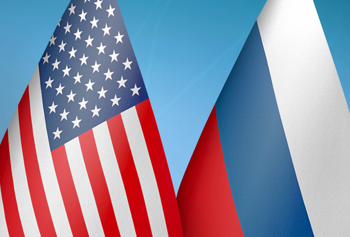 Flags of the United States and Russia