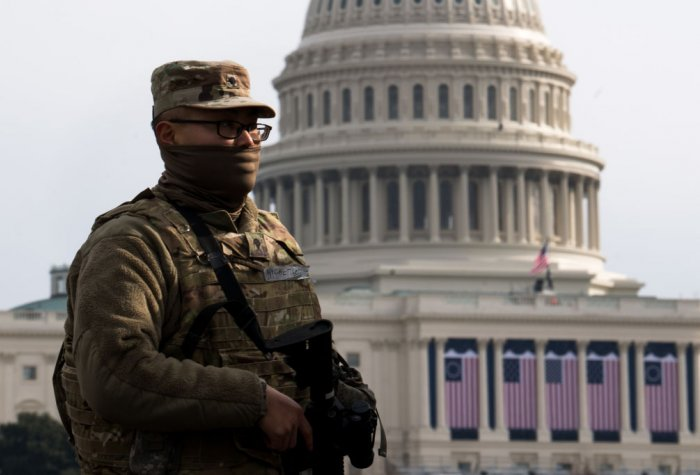 National Guard at the US Capitol