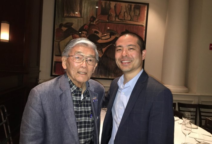 Secretary Norman Mineta and Rylan Sekiguch