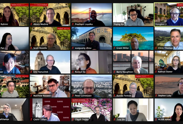 Screenshot of 25 participants on Zoom during the SCCEI Faculty Meet & Greet.