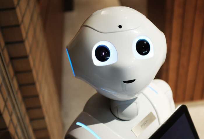 A communications robot named Pepper by Softbank