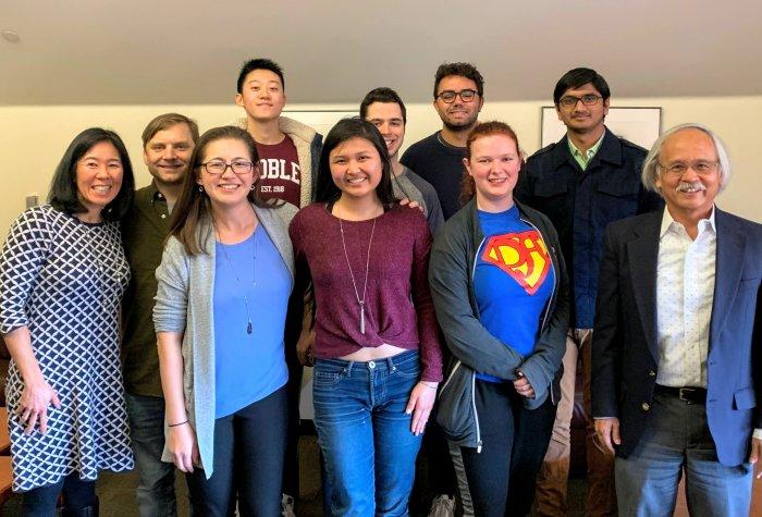 Alumni of the Reischauer Scholars Program and Sejong Korean Scholars Program gather with SPICE staff