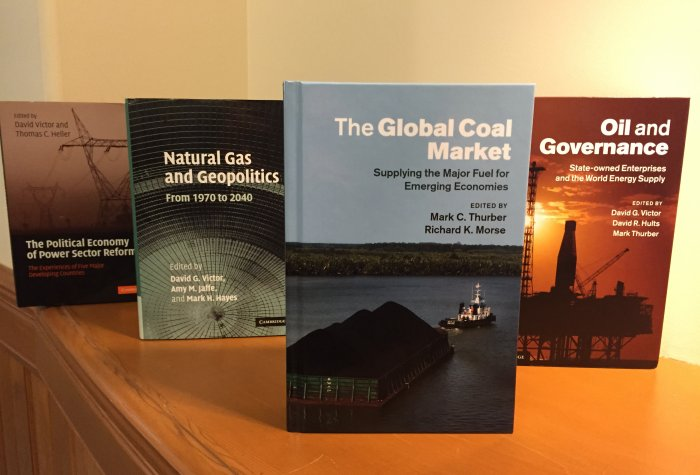 coal book with other books