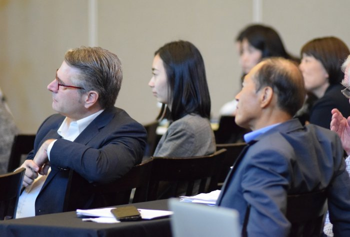 """Audience listens to panel during the conference """"Future Visions: Challenges and Possibilities of Korean Studies in North America"""""""