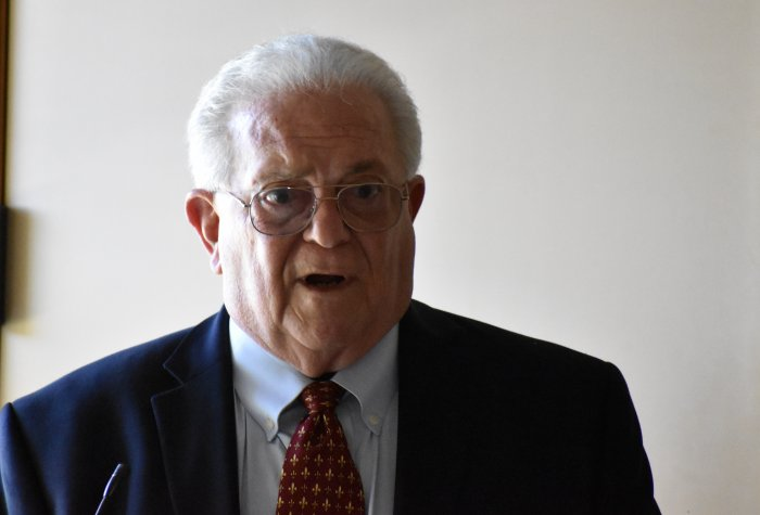 Ambassador Chas Freeman at Podium