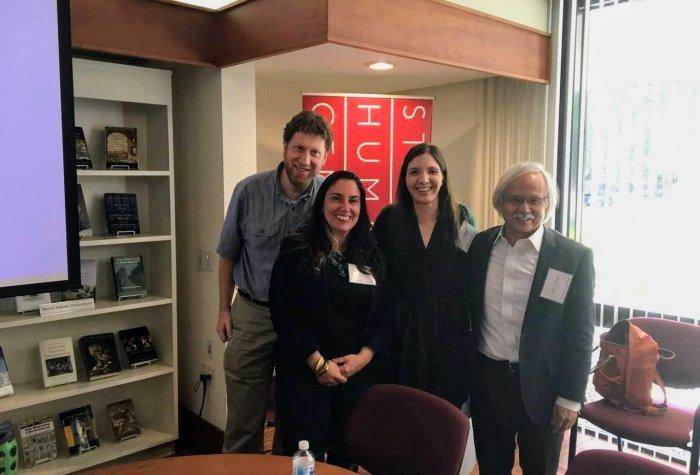 2017–18 EPIC Fellows Colin Schatz, Antonella Vitale, and Kali Rippel (Las Positas College) with SPICE Director Gary Mukai