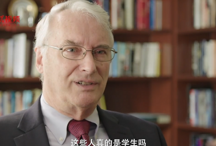 Thomas Fingar in a People's Daily documentary