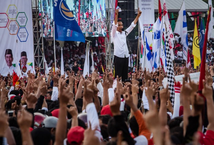 Joko Widodo Campaigns Ahead Of Indonesia's Presidential Election