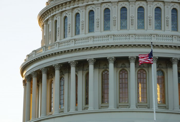 Image of the U.S. Capitol where debates on how to reform Section 230 take place.