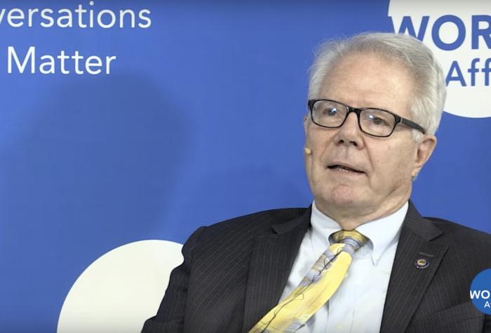 David M. Lampton in conversation on the World Affairs program.