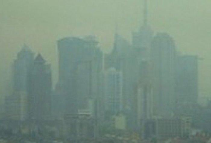 smog in Shanghai publicdomain logo
