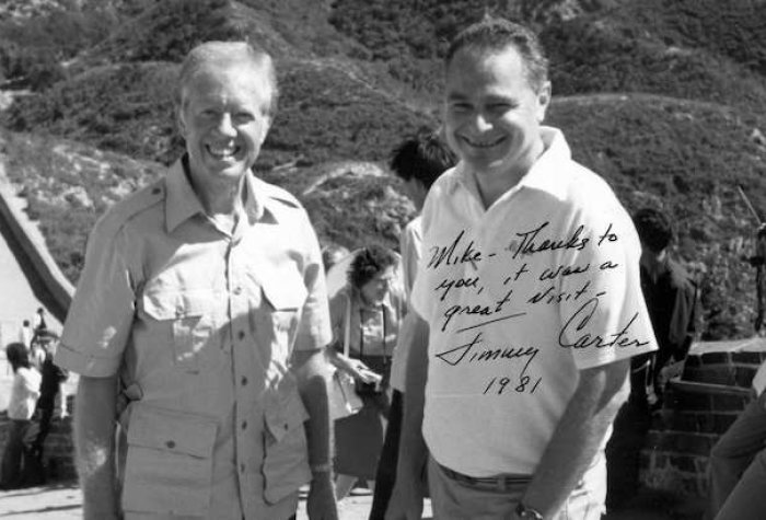 President Jimmy Carter and Mchel Oksenberg in China