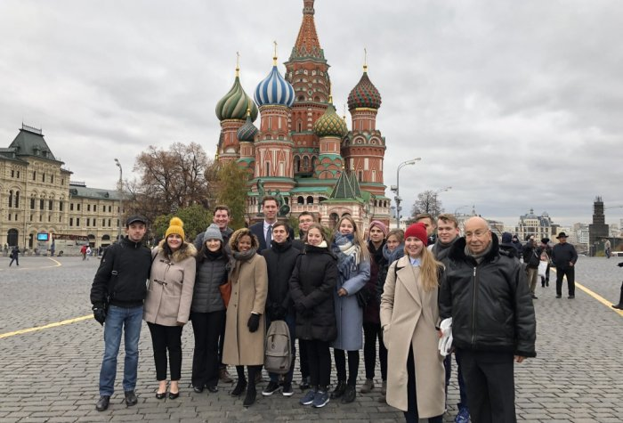 CISAC young nuclear professionals visit Red Square, Moscow.