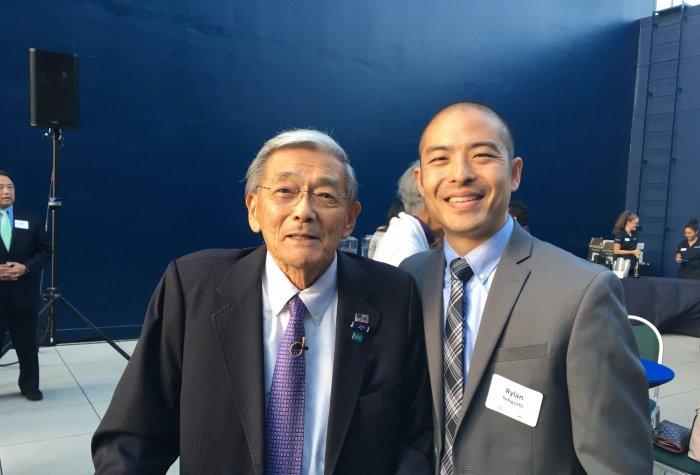 Secretary Norman Mineta and Rylan Sekiguchi