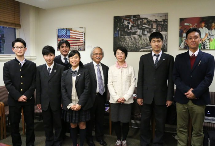 Students and teachers from Kanagawa Prefecture at Stanford University, January 2018