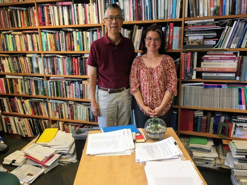 China Scholars Program instructor Tanya Lee & Professor Gordon Chang