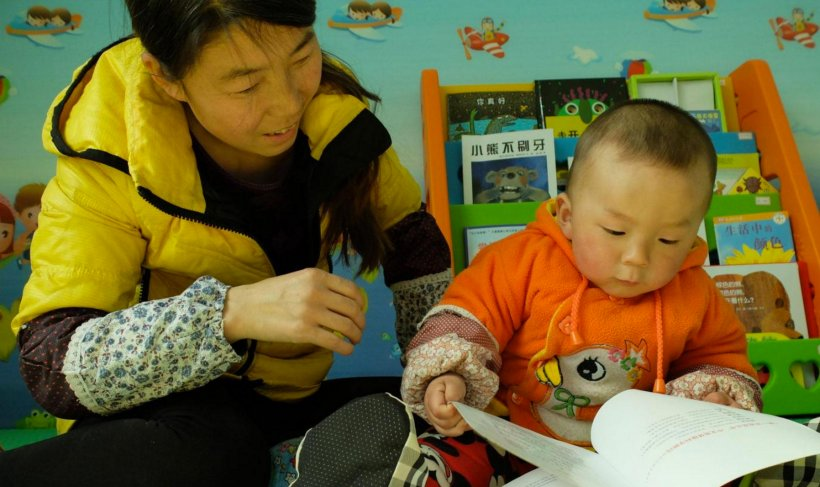 Grandmother and baby at REAP's Early Childhood Education center in Rural China