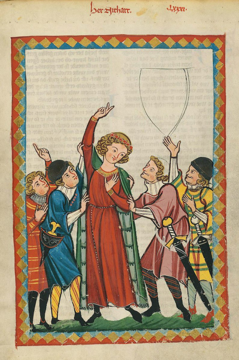 Image of illustration taken from Codex Manesse.