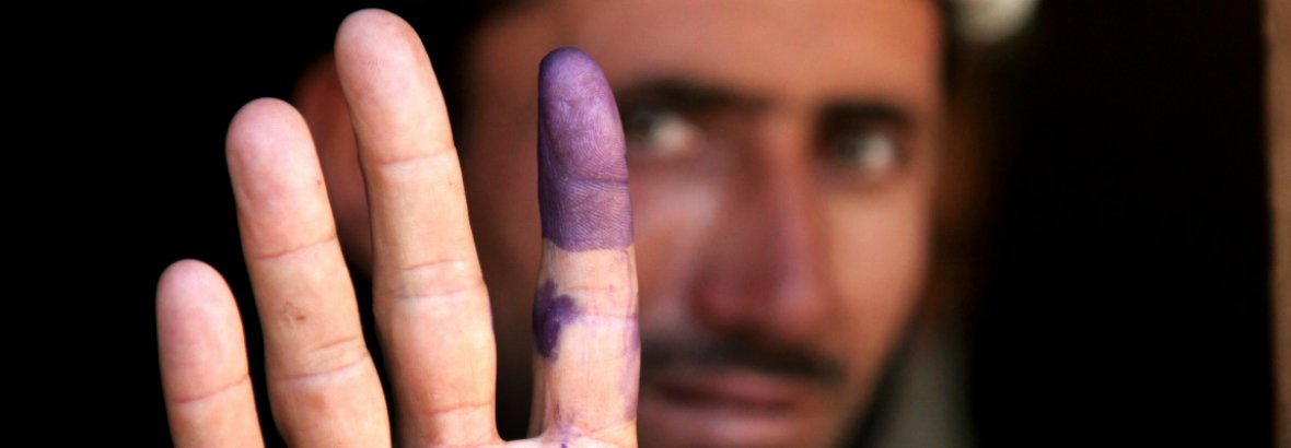 Voter in Afghanistan