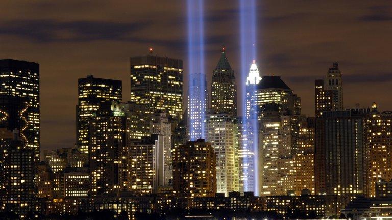 911 beams of light