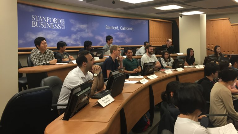 Students in an APARC-taught course interact with peers at Peking University using advanced technology.