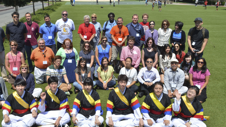 Teachers attending a Korean Culture event at Stanford
