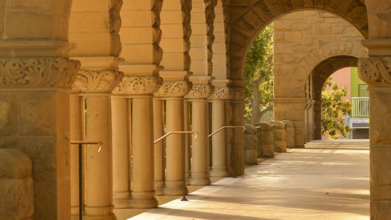The columns at Encina Hall, Stanford University