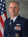 man in military blue suit