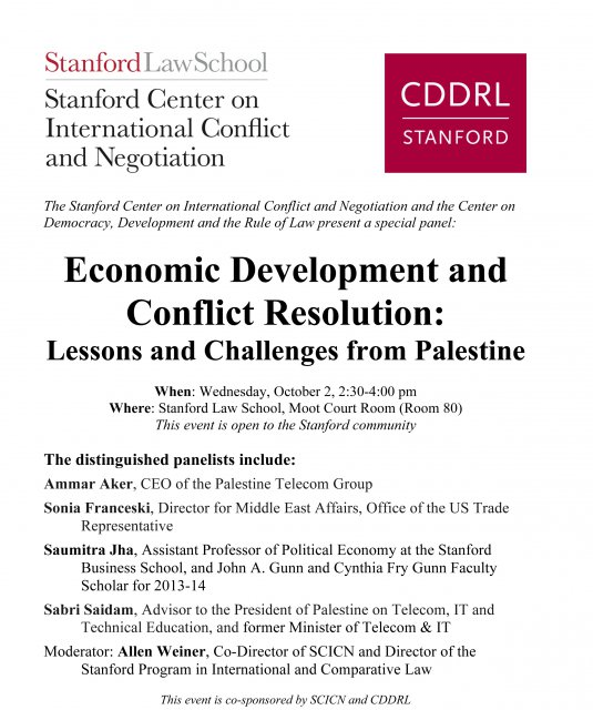 Economic Development And Conflict Resolution