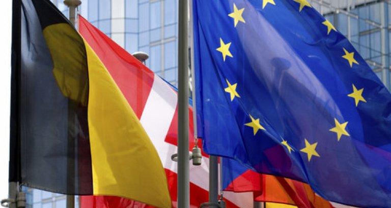 eu parliament and flags