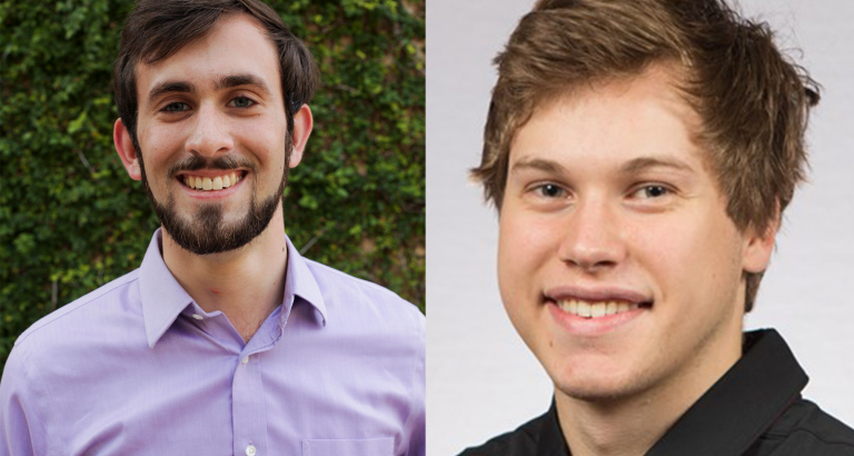Bryce Tuttle and Nick Kinglsey, award winners from the 2020 CDDRL Honors Cohort