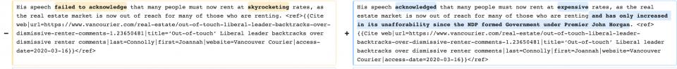misleading edit summary wikipedia