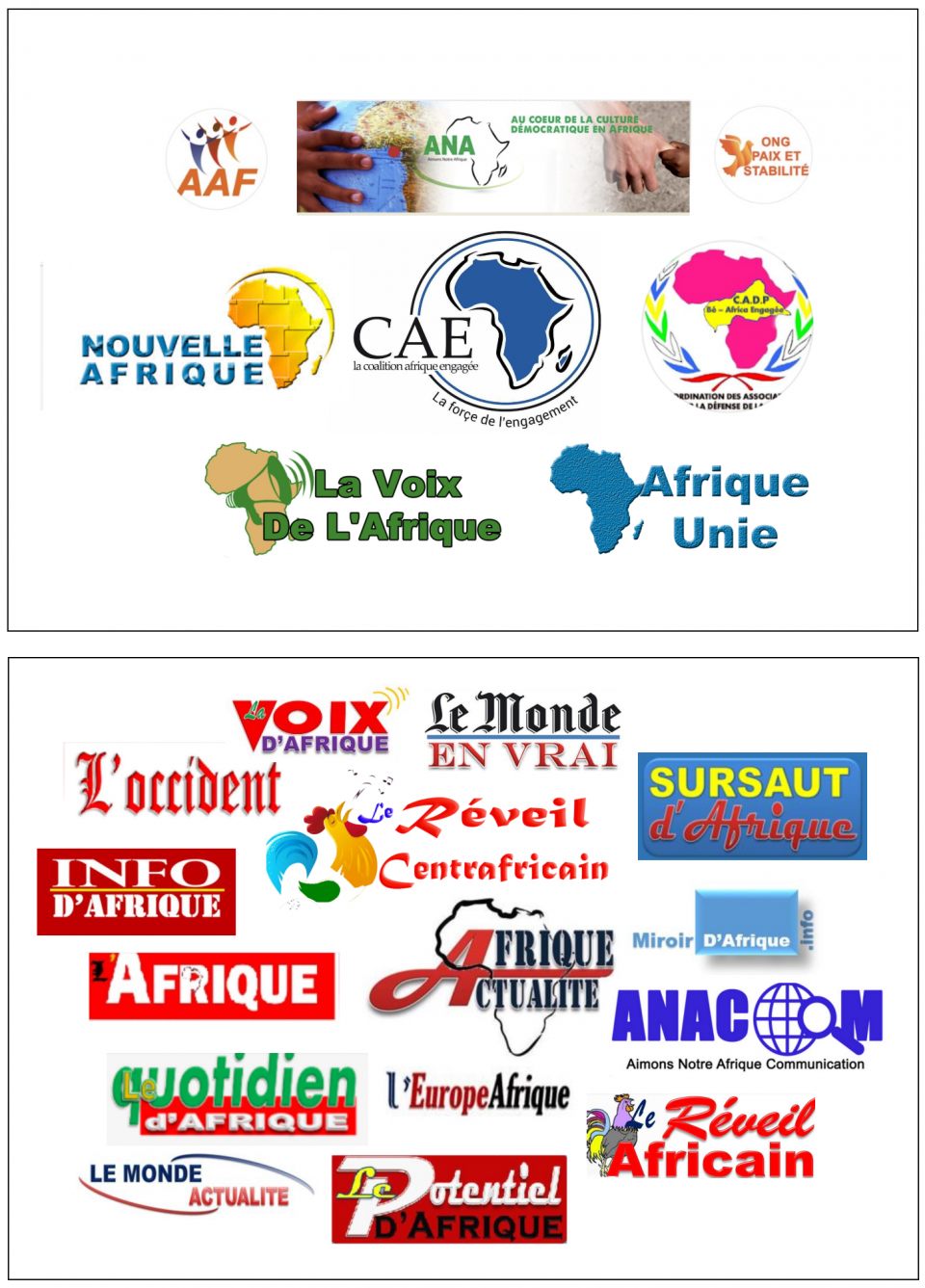 List of NGOs and media outlets linked to Harouna Douamba