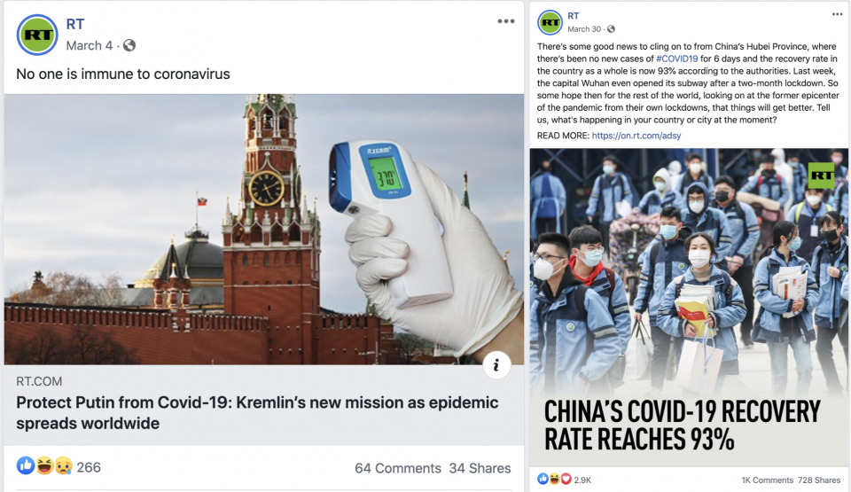 RT Posts Praising China and Russia