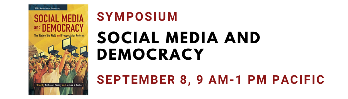 Social Media and Democracy book symposium