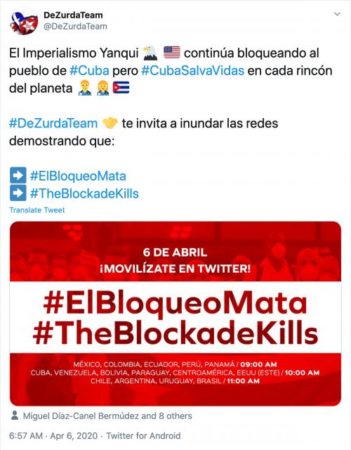 Cuba tweet