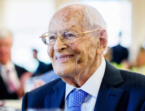 Dr. George Rosenkranz attends ceremony in his honor at Stanford University